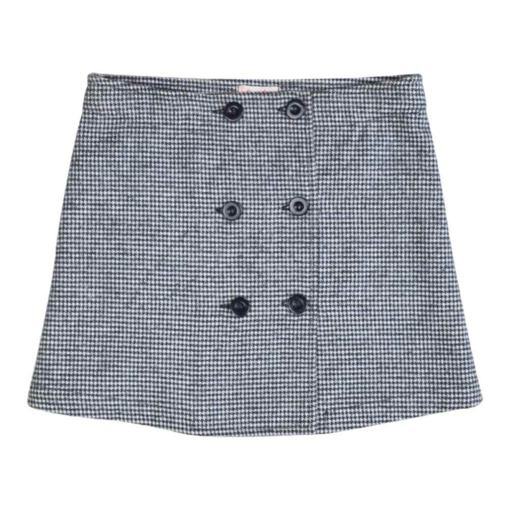 Beating Textured Check Skirt