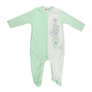 Lunatic Ballon Velvet baby boy bodysuit
